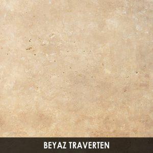 Beyaz Traverten Ocak
